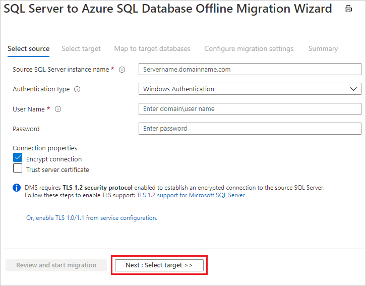 Tutorial Use Azure Database Migration Service To Migrate Offline