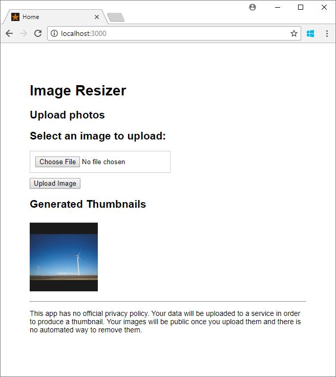 Use Azure Event Grid to automate resizing uploaded images