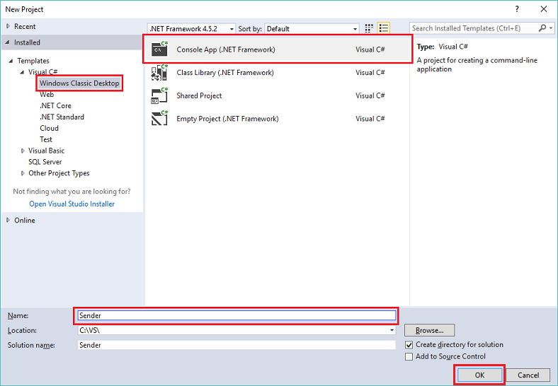 Send And Receive Events Using The Net Framework Azure