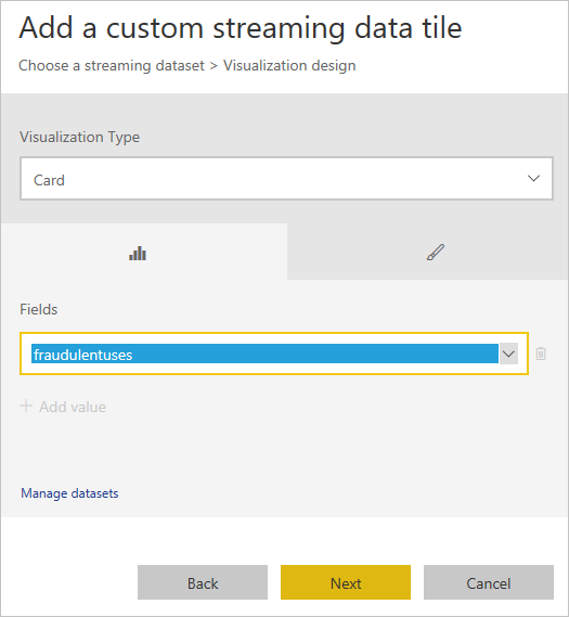 Visualize data anomalies in real-time events - Azure Event