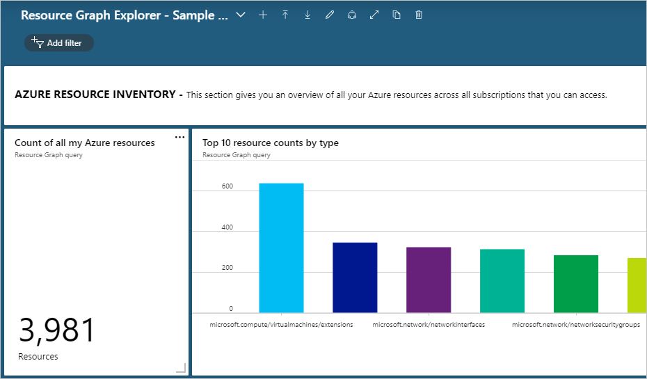Run your first query using Azure Resource Graph Explorer