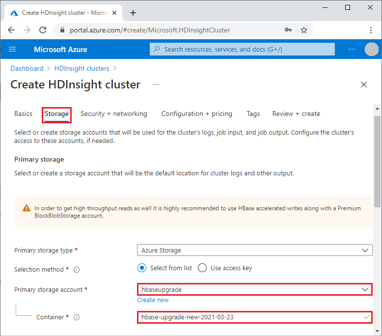 Migrate an HBase cluster to a new version - Azure HDInsight