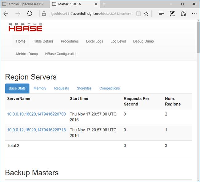 Tutorial - Use Apache HBase in Azure HDInsight   Microsoft Docs