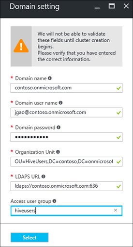 Www Bing Comgo To Www Bing Commail At Abc Microsoft Com1 Microsoft Way Redmond Wa: Configure Domain-joined HDInsight Clusters