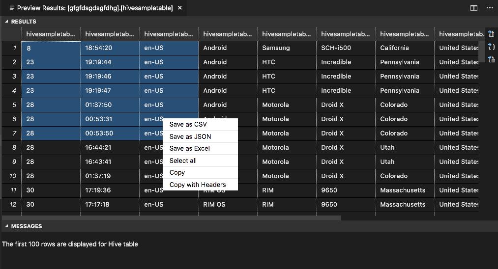 Azure HDInsight for Visual Studio Code   Microsoft Docs