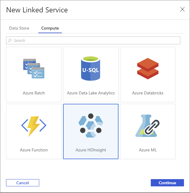 Create HDInsight linked service for Azure Data Factory