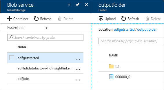 Verify the Azure Data Factory pipeline output