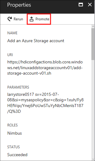 Customize Azure HDInsight clusters by using script actions