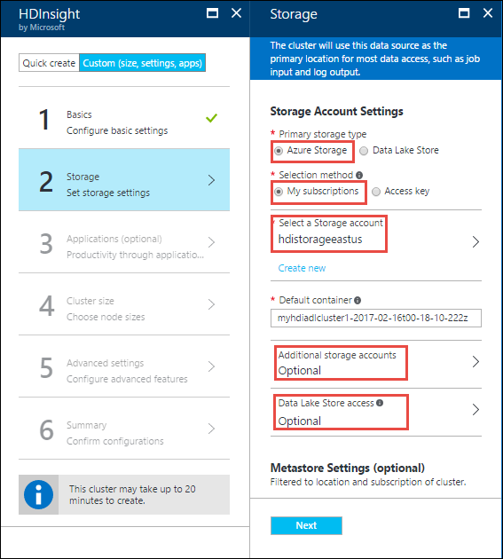 query data from hdfscompatible azure storage azure