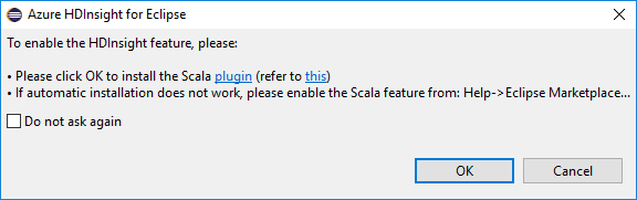 Azure Toolkit for Eclipse: Create Scala applications for