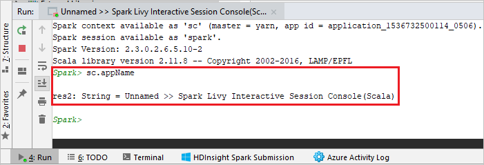 Spark Livy Interactive Session Console