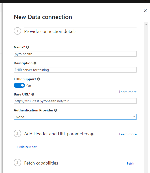 Adding FHIR data connections to scenarios - Health Bot | Microsoft Docs