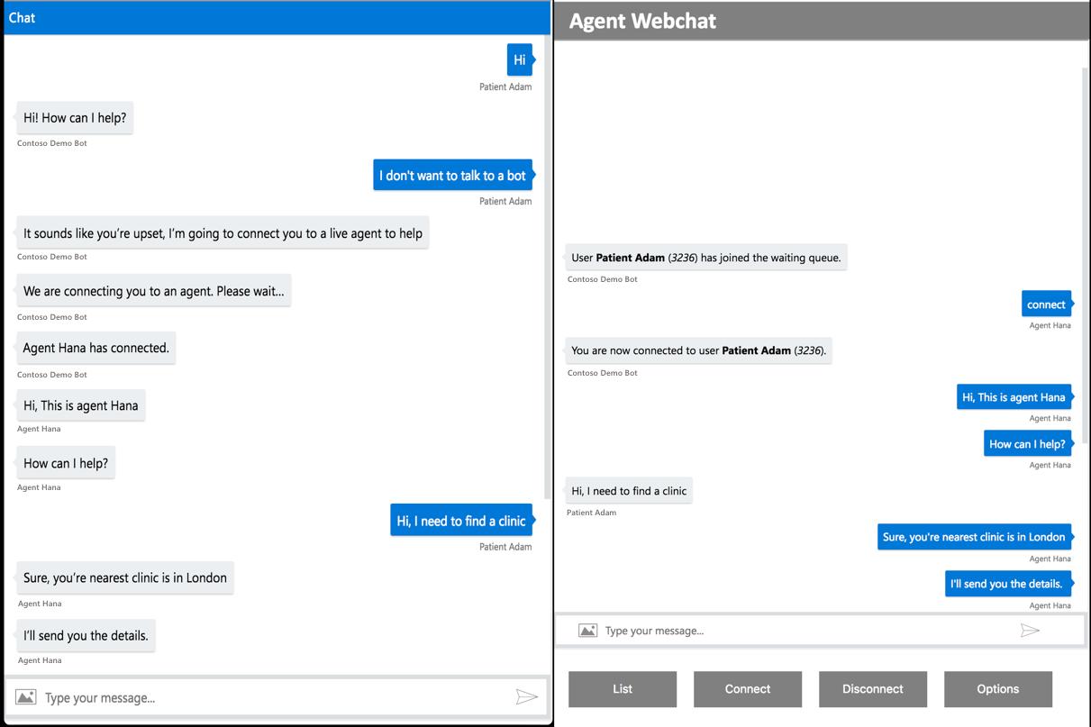 Handoff overview - Health Bot   Microsoft Docs