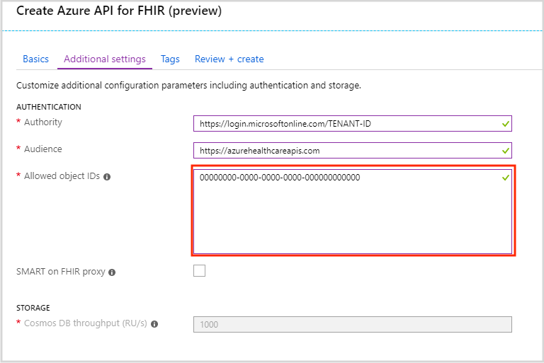Find identity object IDs for authentication - Azure API for FHIR