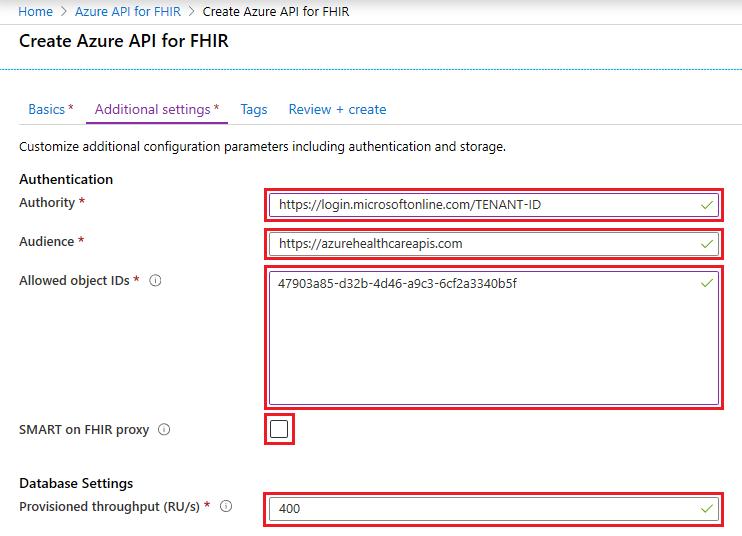 Deploy Azure API for FHIR using Azure portal | Microsoft Docs
