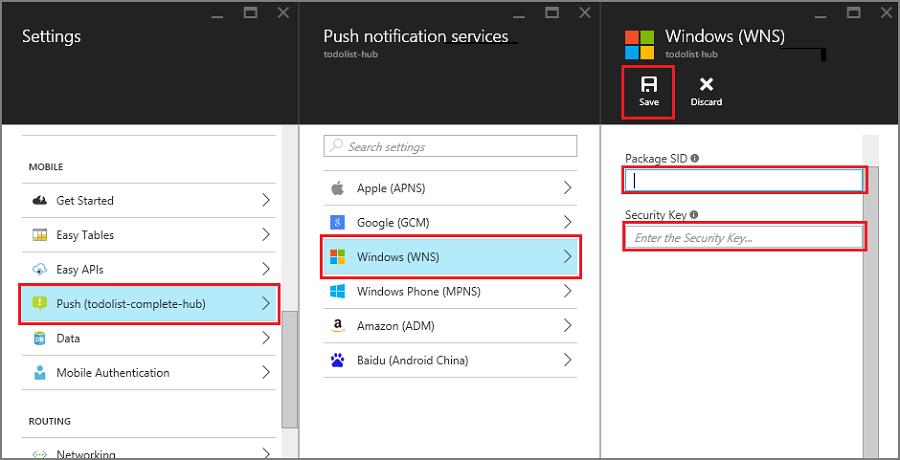 Add push notifications to an Apache Cordova app with the Mobile Apps