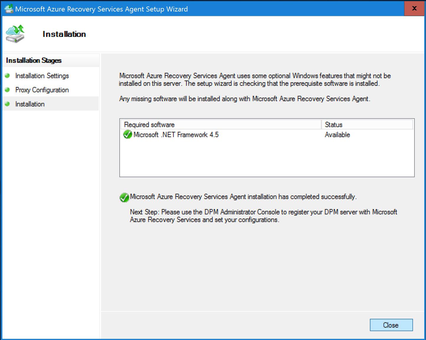 Use DPM to back up workloads to Azure portal | Microsoft Docs