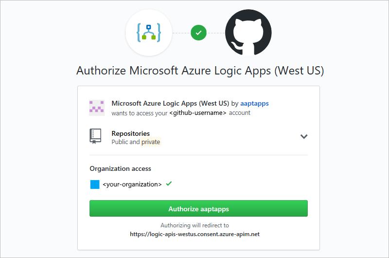 Connect to GitHub - Azure Logic Apps   Microsoft Docs