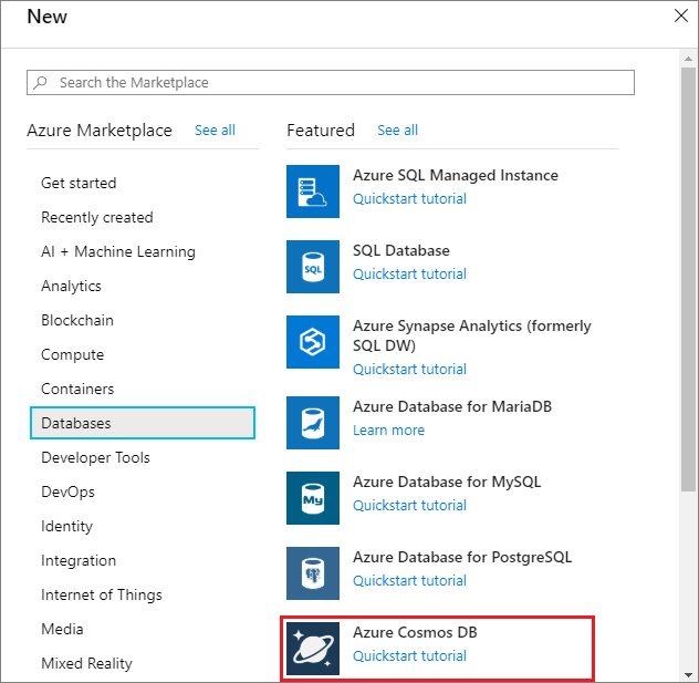 Azure Cosmos DB tutorial: Create, query, and traverse in