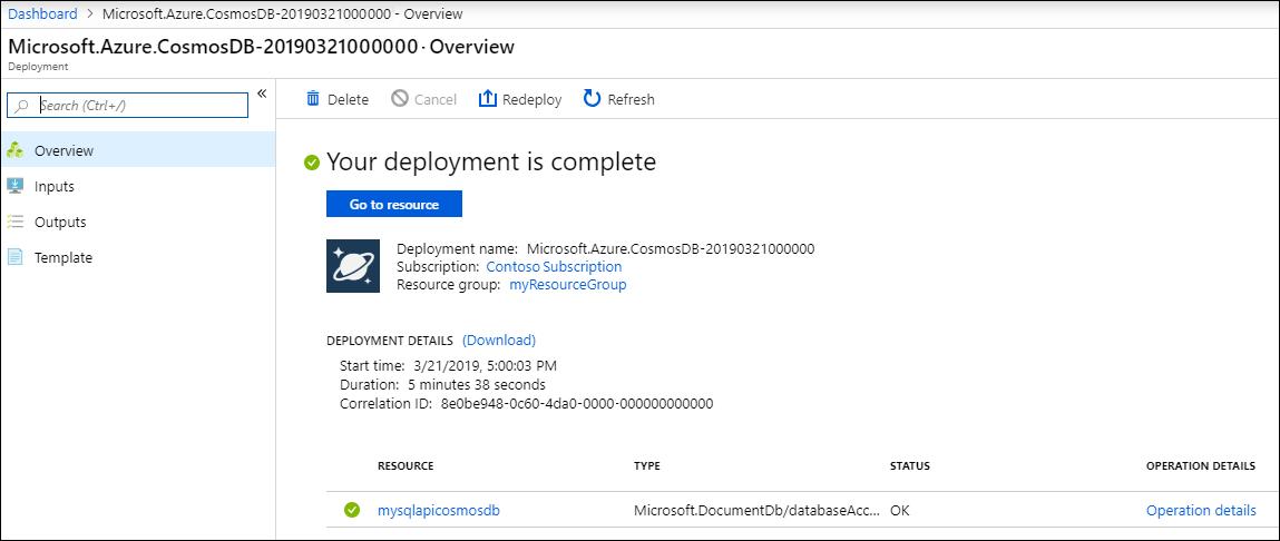 ASP NET Core MVC tutorial for Azure Cosmos DB: Web Application
