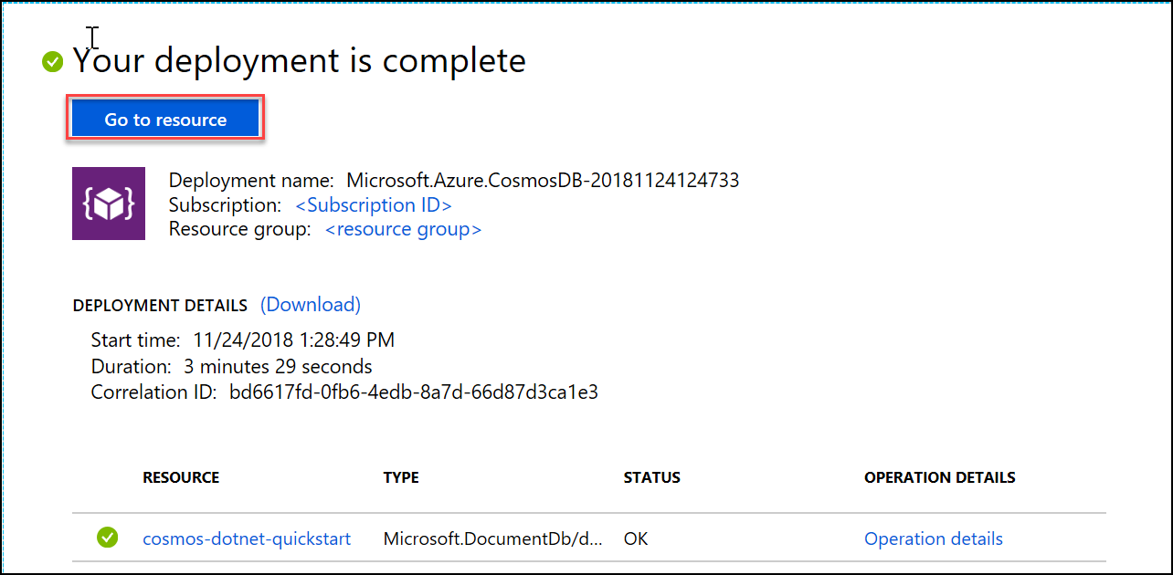 Build a  NET console app to manage data in Azure Cosmos DB