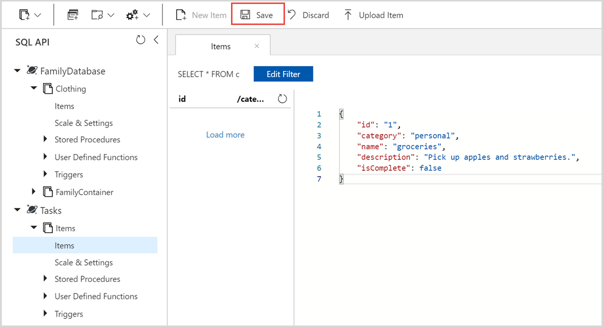 api document template - build a net web app with azure cosmos db using the sql