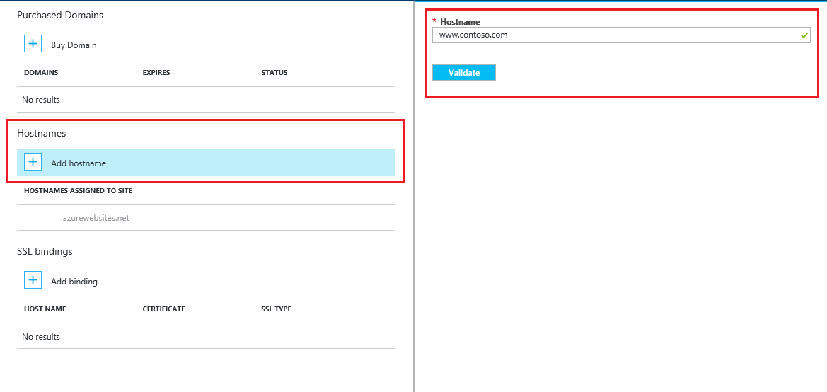 Configure a custom domain name for a web app in Azure App Service