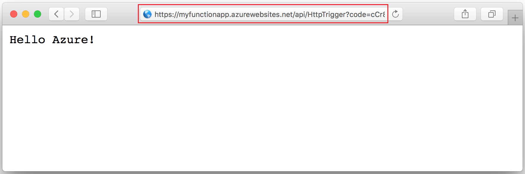 Create an HTTP triggered function in Azure | Microsoft Docs