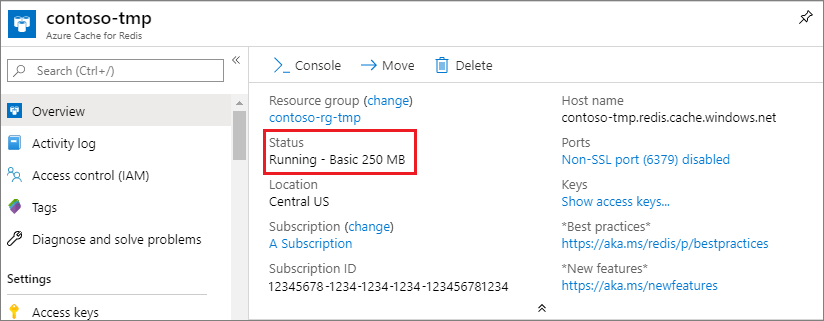 Quickstart to learn how to Use Azure Cache for Redis with  NET Core