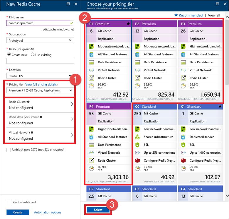 Premium Pricing: Configure A Virtual Network For A Premium Azure Redis