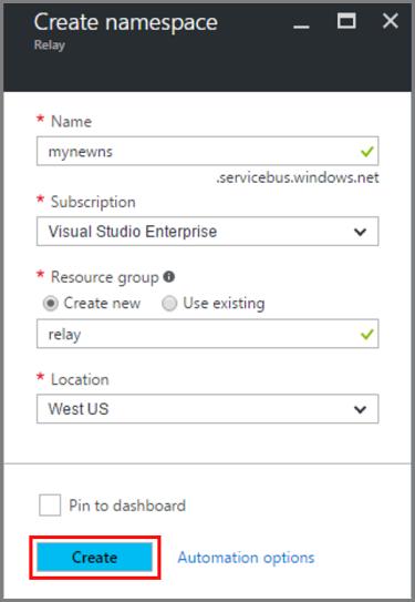 Create a Relay namespace using the Azure portal ...