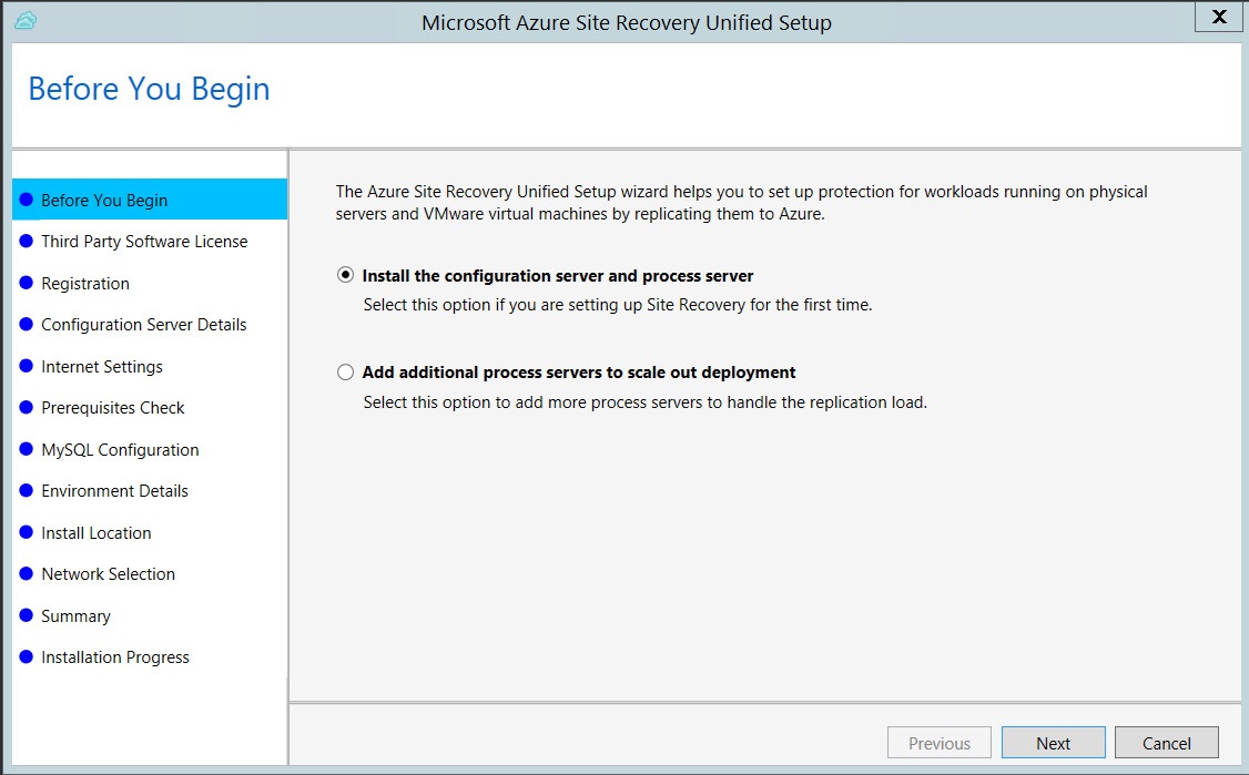 Set Up The Configuration Server For Disaster Recovery Of Physical