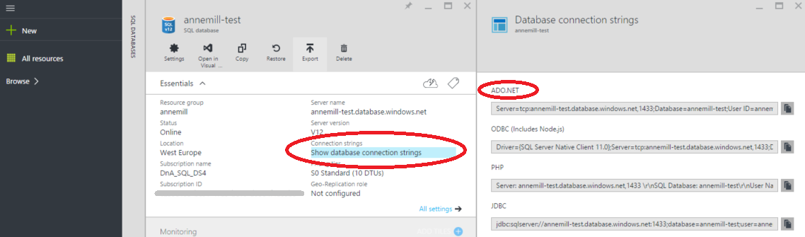 how to create a program using ms sql datbase