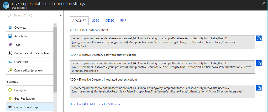 Working with transient errors - Azure SQL Database