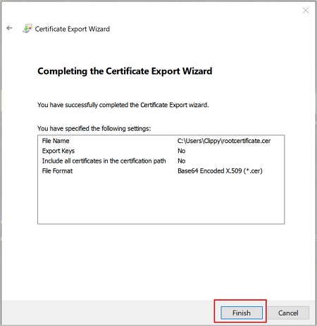 Generate And Export Certificates For Point To Site Powershell