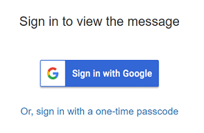 Gmail recipient experience for OME and AIP
