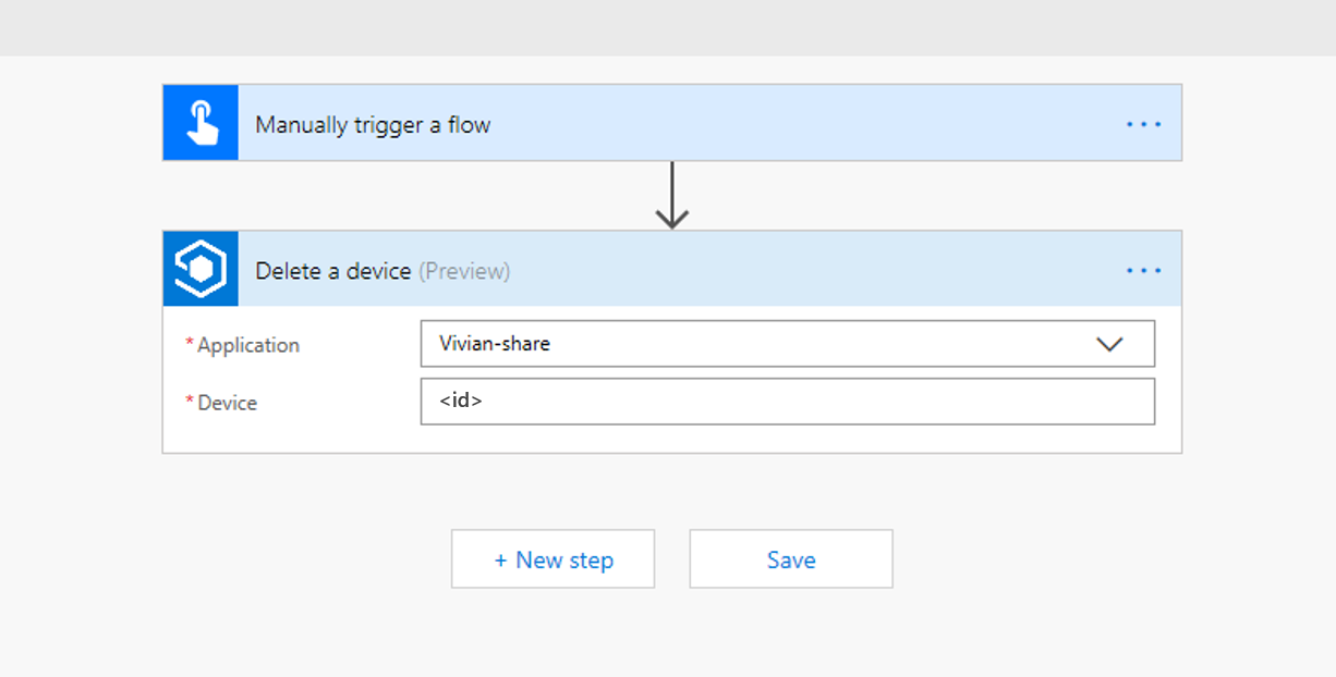 Flow delete device workflow
