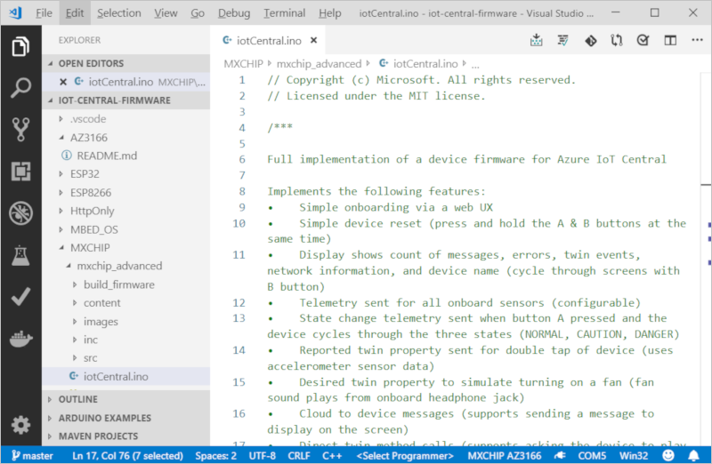Connect a DevKit device to your Azure IoT Central