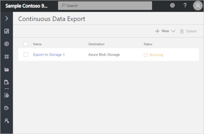 Export your data to Azure Blob Storage | Microsoft Docs