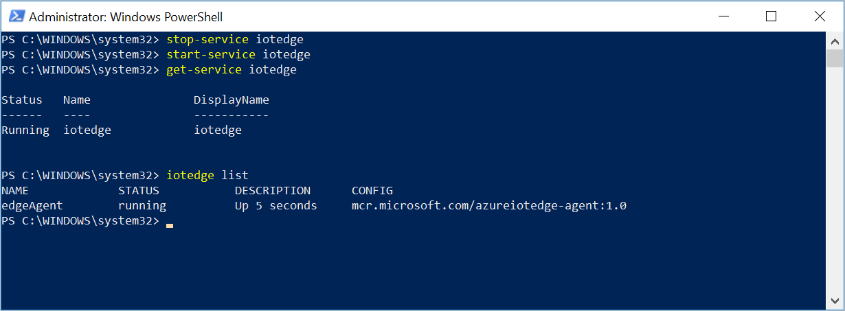Quickstart create an Azure IoT Edge device on Windows