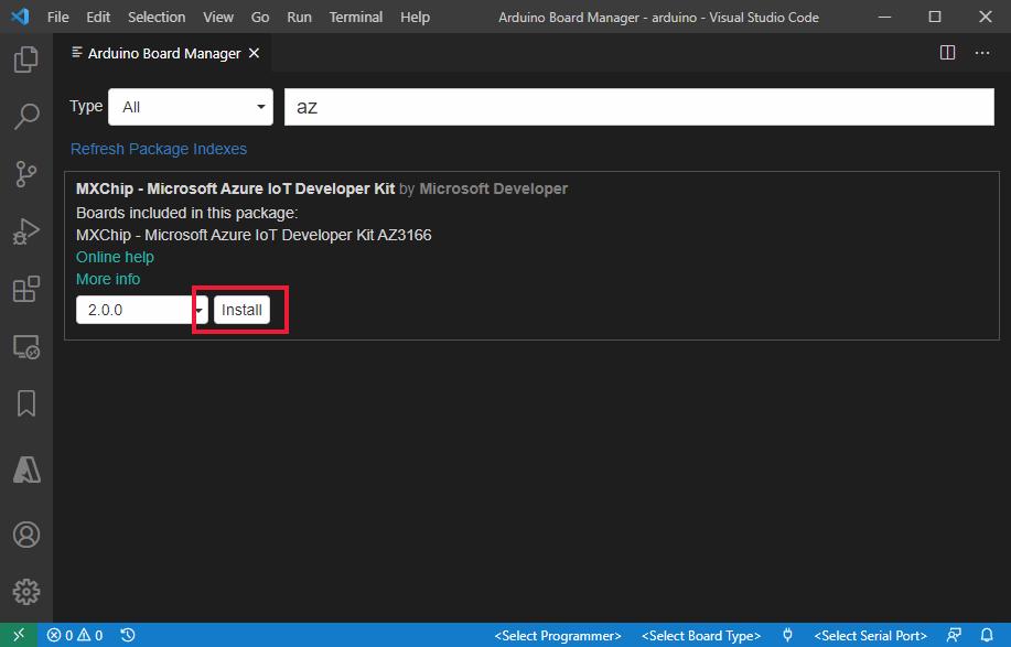 IoT DevKit to cloud -- Connect IoT DevKit AZ3166 to Azure IoT Hub