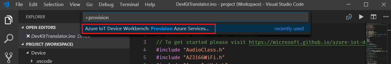 Create an IoT DevKit translator using Azure Functions and