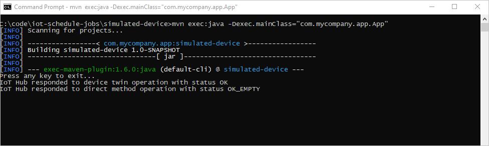 Schedule jobs with Azure IoT Hub (Java) | Microsoft Docs