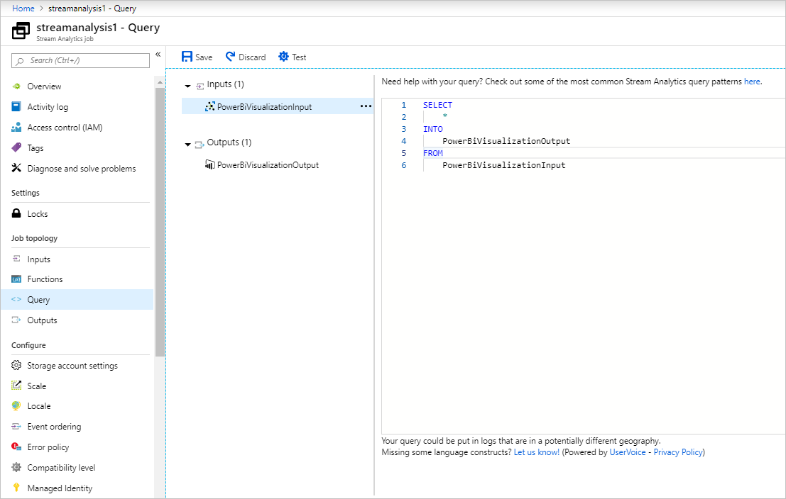 Real-time data visualization of sensor data from Azure IoT