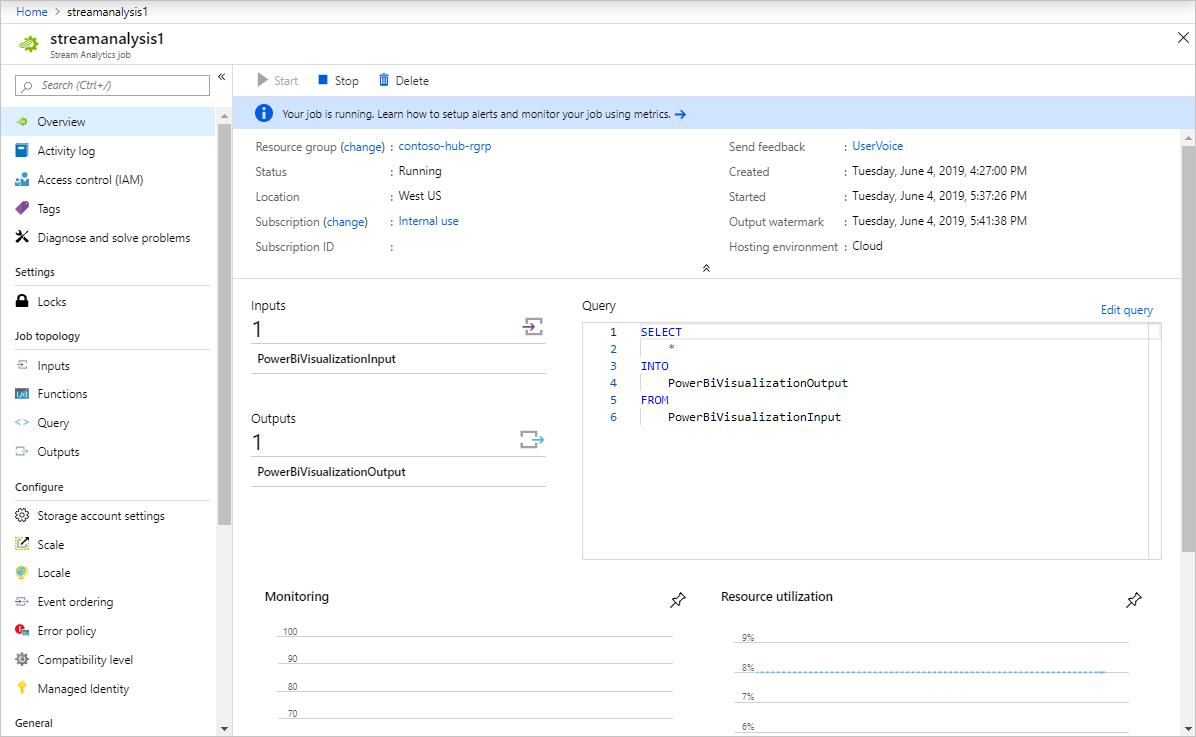 Real-time data visualization of sensor data from Azure IoT Hub