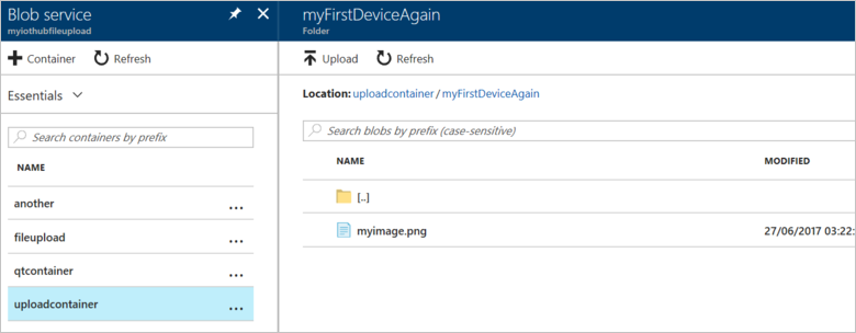Upload files from devices to Azure IoT Hub with Node