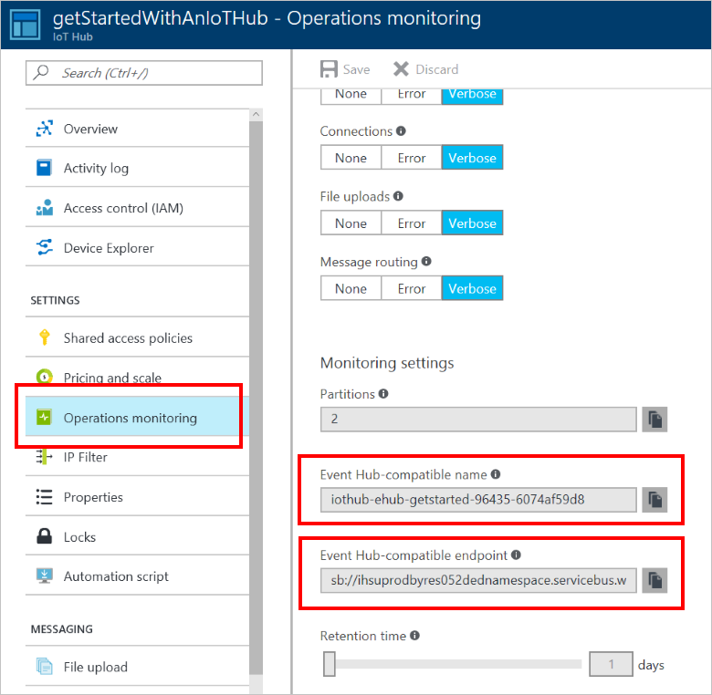 Azure IoT Hub operations monitoring (deprecated) | Microsoft
