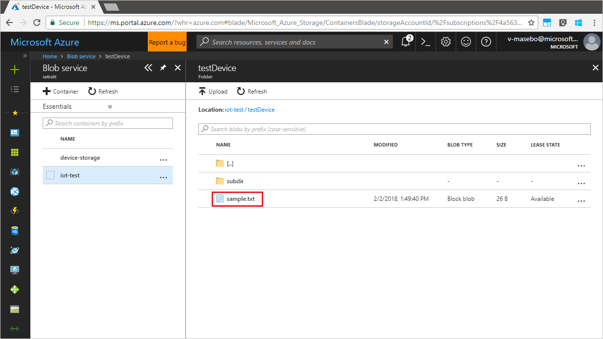 Upload files from devices to Azure IoT Hub with Python