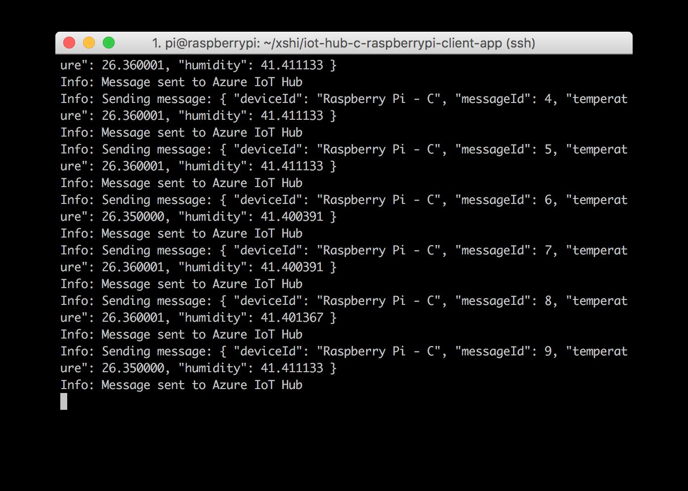 Connect Raspberry Pi to Azure IoT Hub using C   Microsoft Docs
