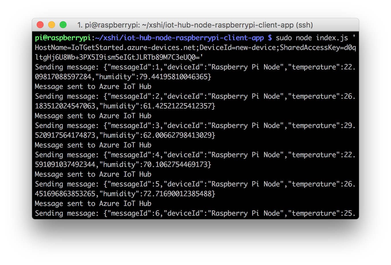 raspberry pi to cloud node js connect raspberry pi to azure iot rh docs microsoft com wiringpi thread example wiringpi timing